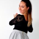 Spódniczka SZARA rozkloszowana dresowa