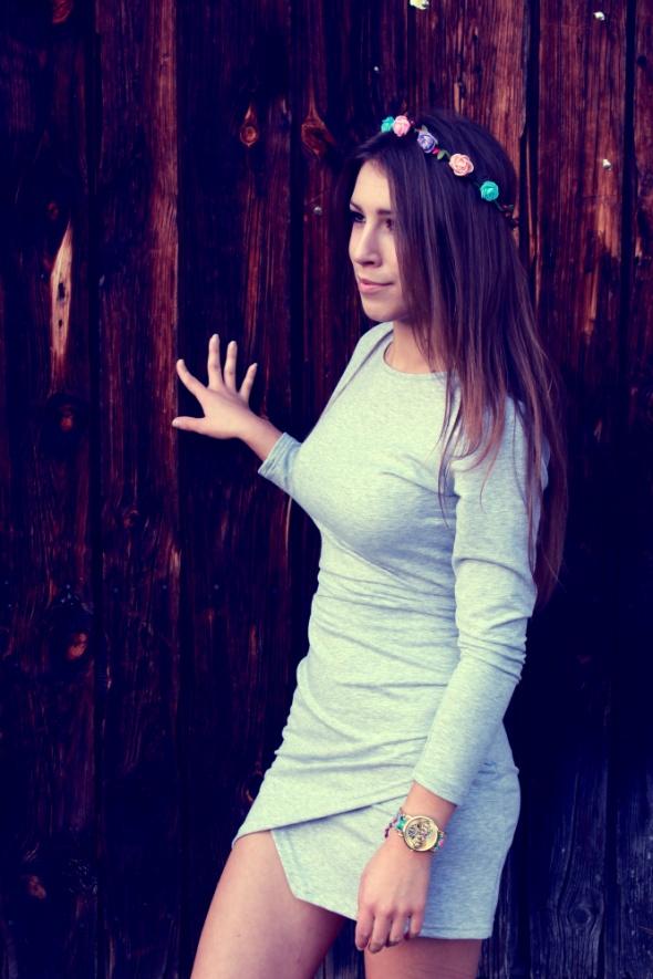 GREY DRESS...