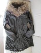 Free Quent Parka khaki zielona kurtka płaszczyk M