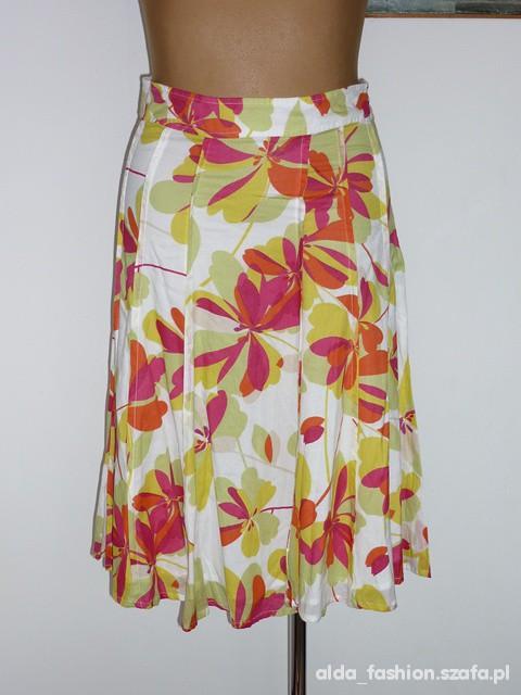 Spódnice MONSOON piękna spódnica kolorowe kwiaty 40 42