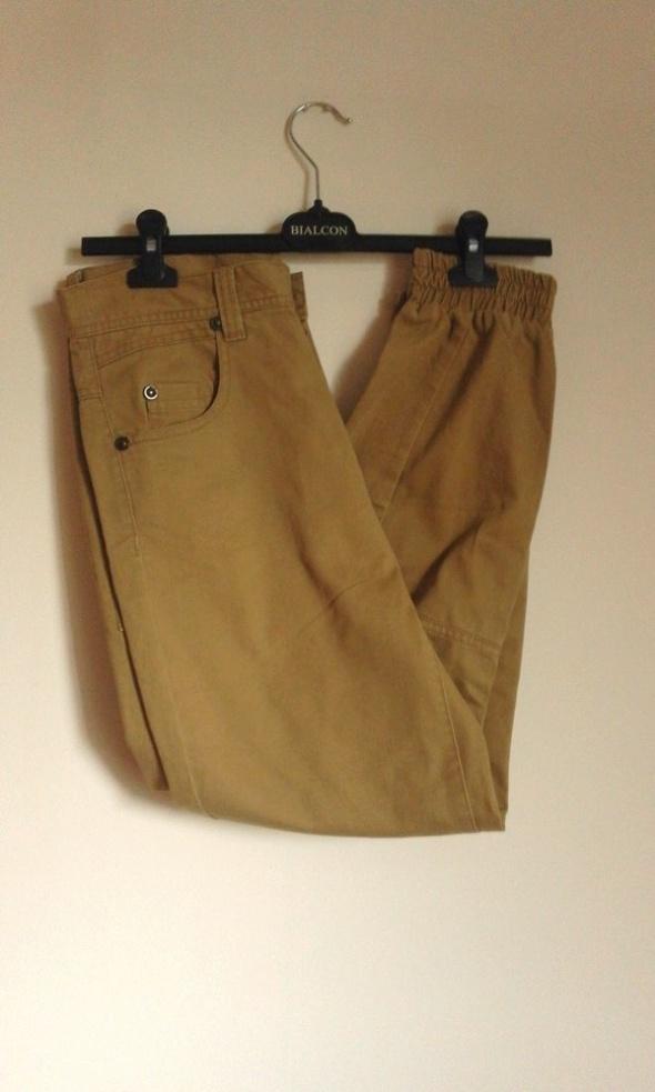 Spodnie Rurki Wysoki Stan