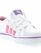 Adidas Nizza Originals białe róż fiolet blog