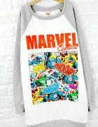 Bluza marvel comics komiks długa sukienka dresowa