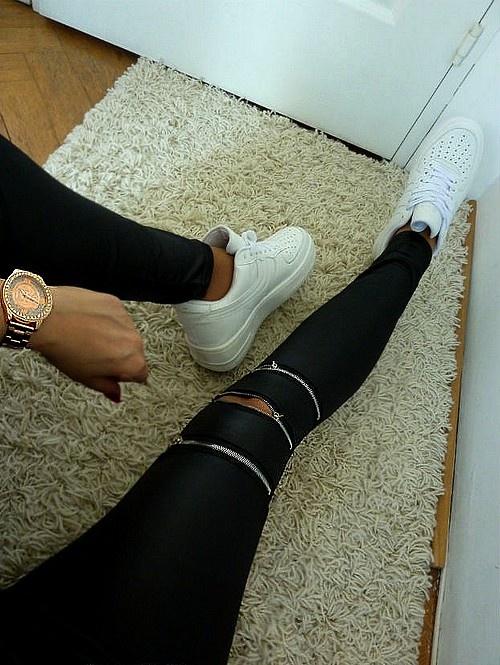 Legginsy MAT legginsorurki SUWAKI na kolanach