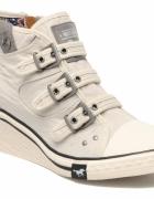 MUSTANG SHOES Mira Blanc casse sneakersy koturny