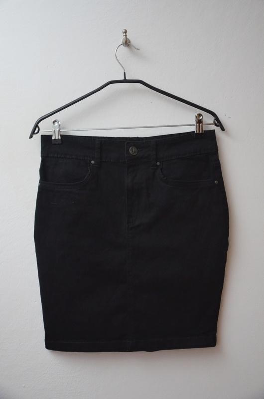 Spódnice House czarna spódnica ołówkowa dopasowana 38