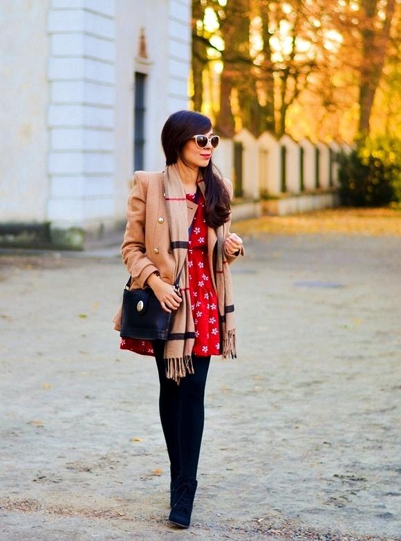 Blogerek czerwona sukienka