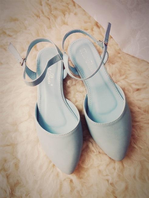 sandały baby blue