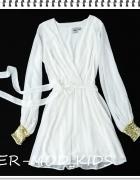 koktajlowa sukienka szyfonowa