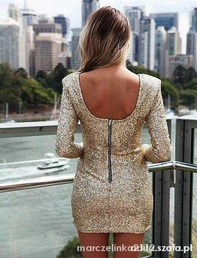 złota cekinowa sukienka...