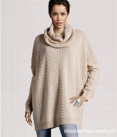 h&m sweter oversize szary rozmiar 38