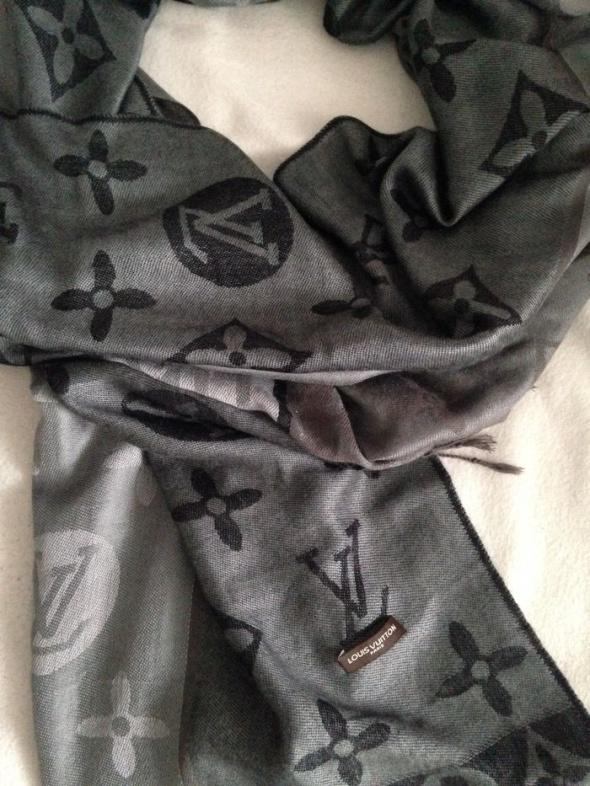 Szaliki i szale Louis Vuitton szalik szary LV