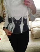 Animals Print Pullover koszula z CND chiny