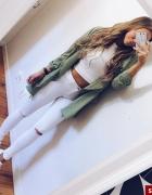 spodnie białe dziury xs