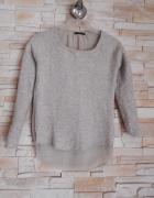 Sweter zara bezowy mgiełka tył tiul...