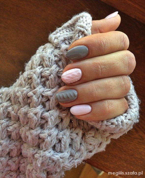 Paznokcie sweterkowe paznockie