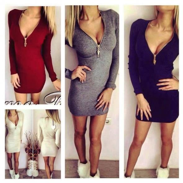 sweterkowa sukienka zameczek POSZUKUJE