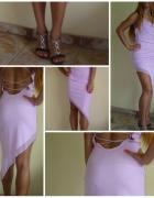 Sukienka gołe plecy lila...