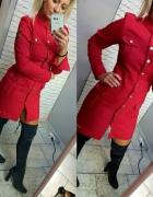 Sukienka military czerwona