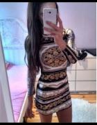 Piekna sukienka z printem
