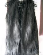 Luksusowa Kamizelka futrzana długi włos futrzak mi