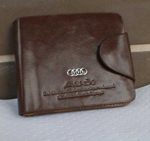 d1983548bf855 Nowy męski brązowy portfel audi w Portfele - Szafa.pl