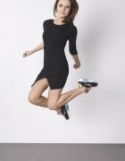 asymetryczna sukienka mini dresowa sportowa
