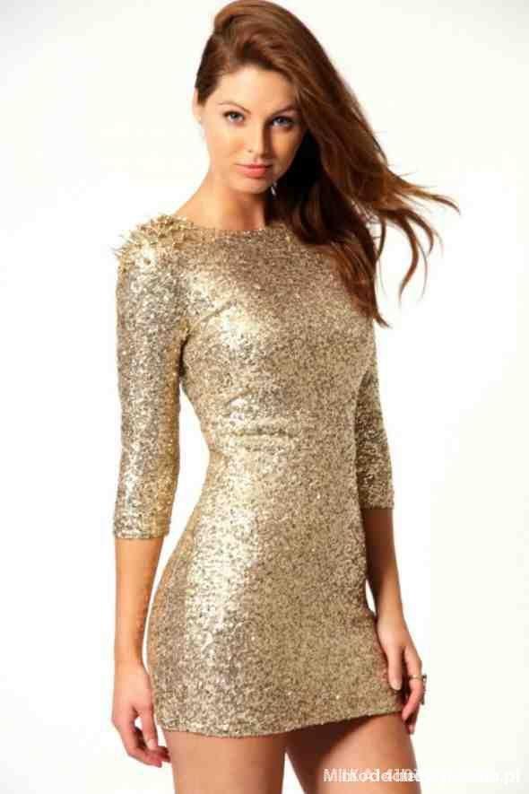 Sukienka złota CEKINY...