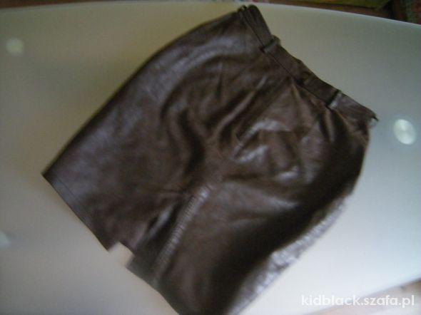 Spódnice skorzana czekoladowa 38