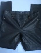 Spodnie czarne skórzane