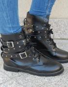 Wiązane botki worker boots zara ćwieki 39 NOWE