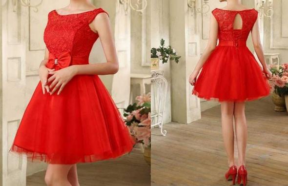 1bfa42fc Przepiękna czerwona tiulowa suknia sukienka 36 S w Suknie i sukienki ...
