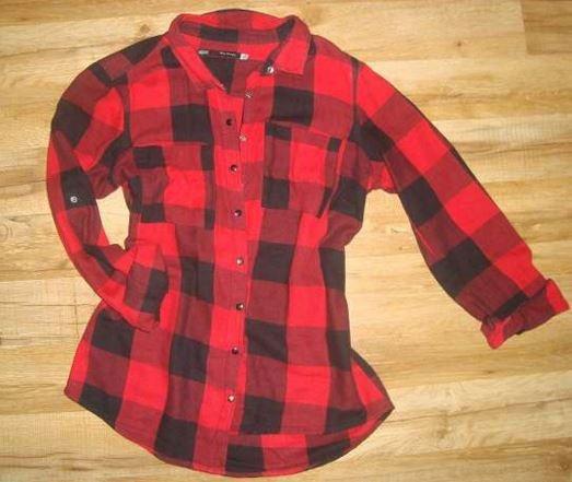 Ubrania Koszula House w kratkę kratka czerwona czarna S M