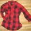 Koszula House w kratkę kratka czerwona czarna S M