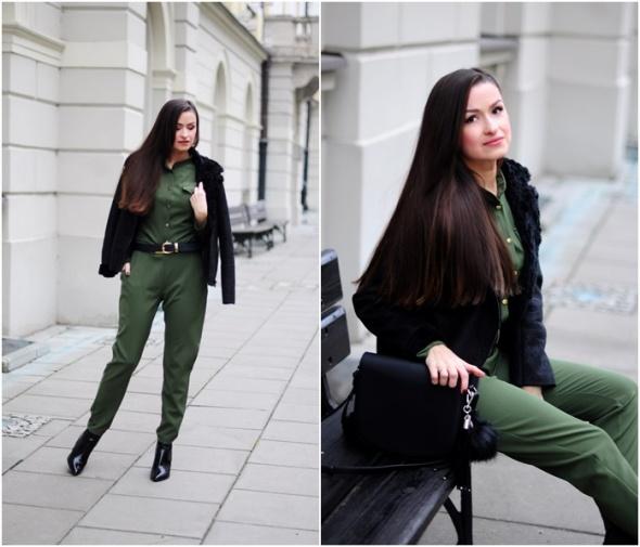 Blogerek Kombinezon khaki