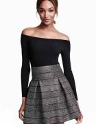 H&M spódnica srebrna 34