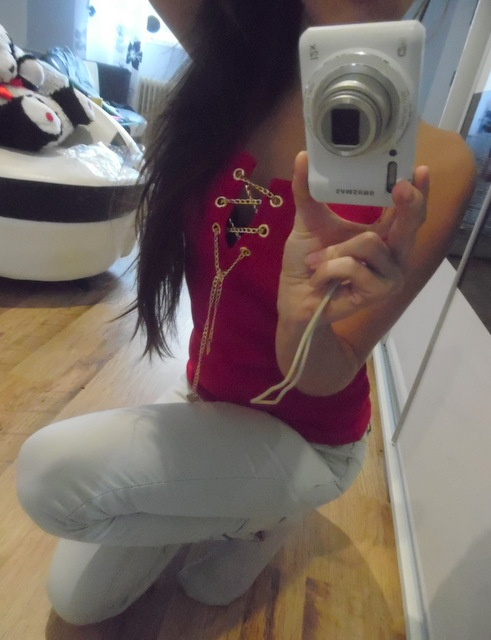 Codzienne red ans jeans