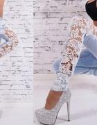 nowe spodnie rurki rozm xs s