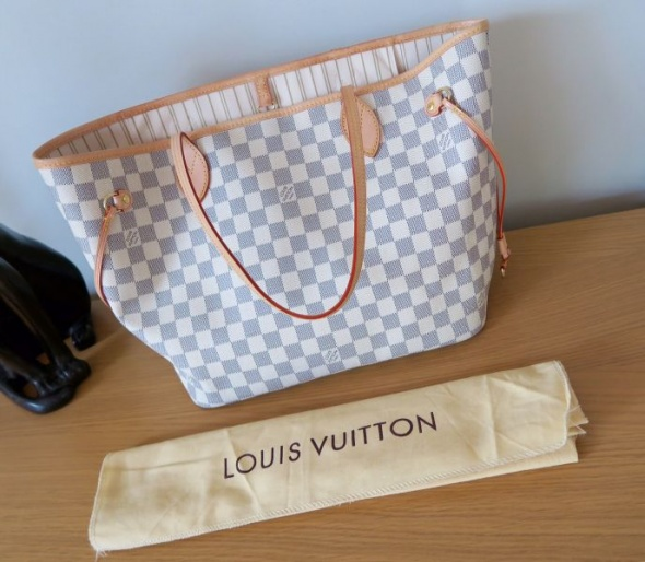 9e4a7728bd161 Torebki na co dzień Louis Vuitton Neverfull Damier Azur Numer Seryjny