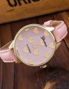 Zegarek serce serduszka pudrowy róż NOWOŚĆ