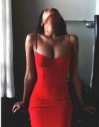 Sexowna czerwona sukienka cocktail shock