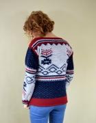 Zimowy wzorzysty sweter
