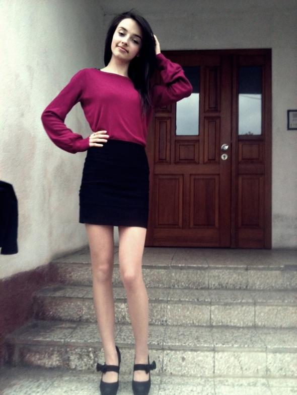 Eleganckie Burgundowy sweterek