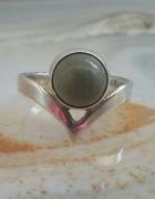 stary srebrny pierścionek warmet