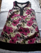 płócienna sukienka kolorowa 42 44