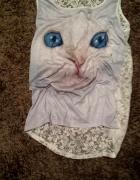 kot kotek cudowna koszulka S M NOWA MIAU