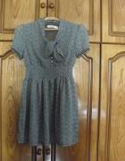 Nowa sukienka w groszki retro kokardki dziewczęca