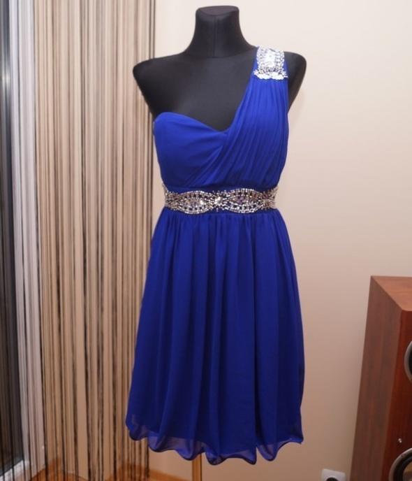 Śliczna Chabrowa sukienka