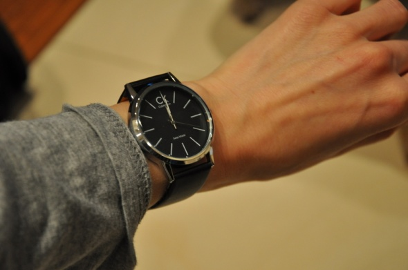 zegarek czarny calvin klein