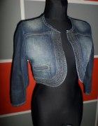 Genialne bolerko jeans z przetarciami FISHBONE